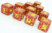 Red & Yellow Battle D6 Soviet Dice Set
